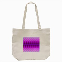 Geometric Cubes Pink Purple Blue Tote Bag (cream) by Nexatart
