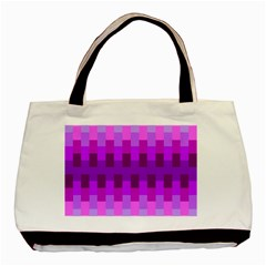 Geometric Cubes Pink Purple Blue Basic Tote Bag (two Sides)
