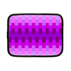 Geometric Cubes Pink Purple Blue Netbook Case (small)  by Nexatart