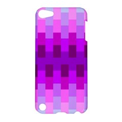 Geometric Cubes Pink Purple Blue Apple Ipod Touch 5 Hardshell Case by Nexatart