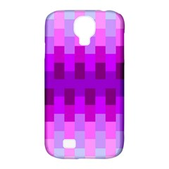 Geometric Cubes Pink Purple Blue Samsung Galaxy S4 Classic Hardshell Case (pc+silicone) by Nexatart