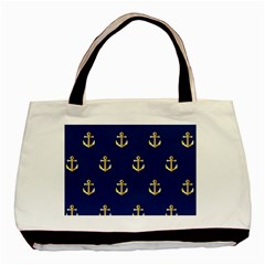Gold Anchors Background Basic Tote Bag