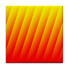 Graphics Gradient Orange Red Tile Coasters