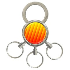 Graphics Gradient Orange Red 3-ring Key Chains by Nexatart