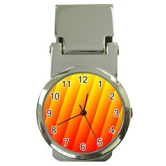 Graphics Gradient Orange Red Money Clip Watches