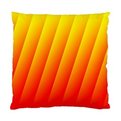 Graphics Gradient Orange Red Standard Cushion Case (two Sides) by Nexatart