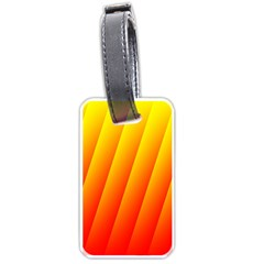 Graphics Gradient Orange Red Luggage Tags (one Side)  by Nexatart