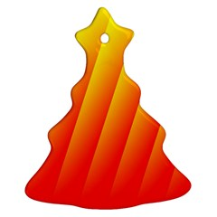 Graphics Gradient Orange Red Christmas Tree Ornament (two Sides)