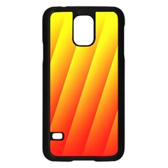 Graphics Gradient Orange Red Samsung Galaxy S5 Case (black) by Nexatart