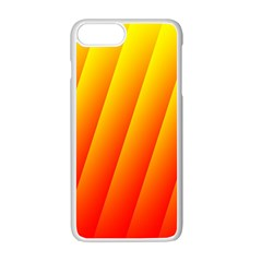 Graphics Gradient Orange Red Apple Iphone 7 Plus White Seamless Case