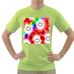 Happy Flowers Green T Shirt