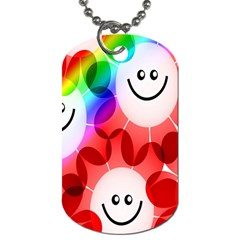 Happy Flowers Dog Tag (one Side)
