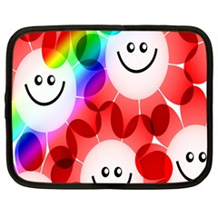 Happy Flowers Netbook Case (large) by Nexatart
