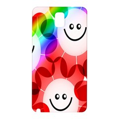 Happy Flowers Samsung Galaxy Note 3 N9005 Hardshell Back Case by Nexatart