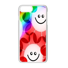 Happy Flowers Apple Iphone 7 Plus White Seamless Case