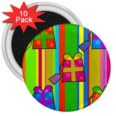 Holiday Gifts 3  Magnets (10 Pack)  by Nexatart
