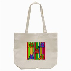 Holiday Gifts Tote Bag (cream)