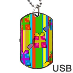 Holiday Gifts Dog Tag Usb Flash (two Sides) by Nexatart