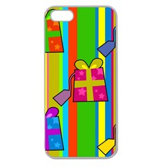 Holiday Gifts Apple Seamless Iphone 5 Case (clear) by Nexatart