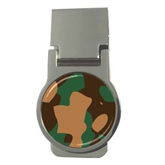 Military Camouflage Money Clips (round)