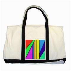 More Color Abstract Pattern Two Tone Tote Bag by Nexatart