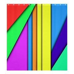 More Color Abstract Pattern Shower Curtain 66  X 72  (large)  by Nexatart