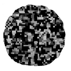 Noise Texture Graphics Generated Large 18  Premium Flano Round Cushions by Nexatart