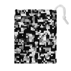 Noise Texture Graphics Generated Drawstring Pouches (extra Large) by Nexatart