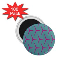 Pattern Background Structure Pink 1 75  Magnets (100 Pack)  by Nexatart