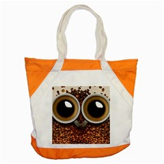 Owl Coffee Art Accent Tote Bag by Nexatart