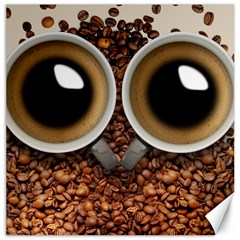 Owl Coffee Art Canvas 20  X 20   by Nexatart