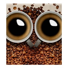 Owl Coffee Art Shower Curtain 66  X 72  (large)