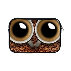 Owl Coffee Art Apple Ipad Mini Zipper Cases by Nexatart
