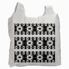 Pattern Background Texture Black Recycle Bag (one Side) by Nexatart