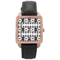 Pattern Background Texture Black Rose Gold Leather Watch  by Nexatart