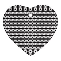 Pattern Background Texture Black Ornament (Heart)