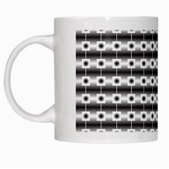 Pattern Background Texture Black White Mugs