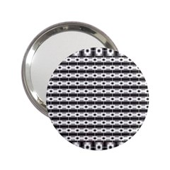 Pattern Background Texture Black 2.25  Handbag Mirrors