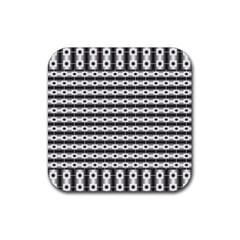 Pattern Background Texture Black Rubber Coaster (Square)