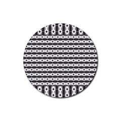 Pattern Background Texture Black Rubber Round Coaster (4 pack)