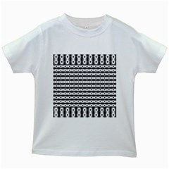 Pattern Background Texture Black Kids White T-Shirts