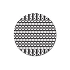 Pattern Background Texture Black Magnet 3  (Round)