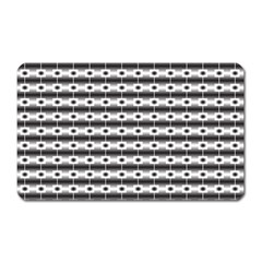 Pattern Background Texture Black Magnet (Rectangular)