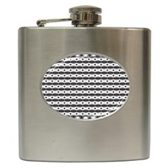 Pattern Background Texture Black Hip Flask (6 oz)