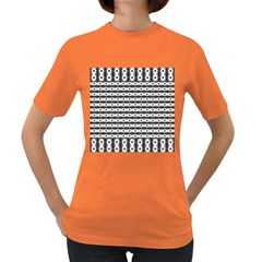 Pattern Background Texture Black Women s Dark T-Shirt