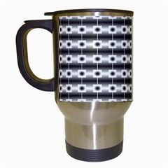 Pattern Background Texture Black Travel Mugs (White)