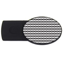 Pattern Background Texture Black USB Flash Drive Oval (4 GB)