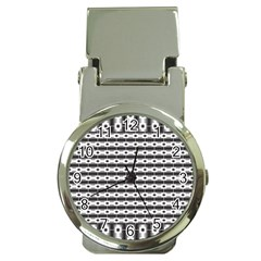 Pattern Background Texture Black Money Clip Watches
