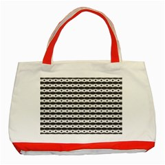 Pattern Background Texture Black Classic Tote Bag (Red)