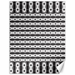 Pattern Background Texture Black Canvas 12  x 16